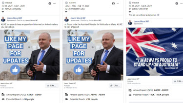 Victorian MP Jason Wood spent thousands on Facebook ads promoting his page but nothing on COVID-19 safety messages.