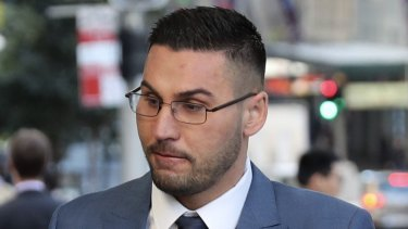 Salim Mehajer arrives at the Downing Centre Local Court on Friday.
