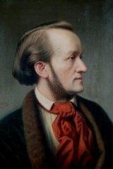 German composer Wilhelm Richard Wagner. Portrait by Cassar Willich circa 1852.