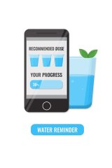 Phone apps can also help you track daily water intake.