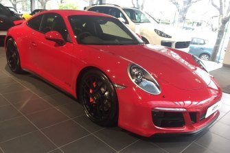 The Porsche GTS 911 that was taken from a West Melbourne car wash.