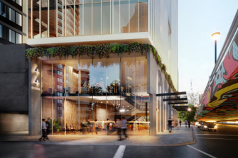 """The Roma Street hotel would deliver a """"unique corporate traveller hotel development"""" with 212 rooms and an open, double-height foyer."""