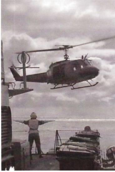 Jennifer Wittwer on HMAS Swan, as Helicopter Patrol Officer in 1996.