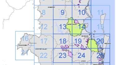 South east Queensland's key koala priority protection areas in 2018.