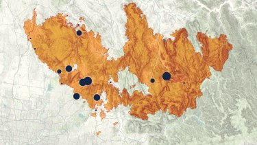 How the Black Saturday fires spread