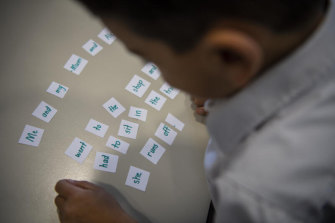 Students at Mother Teresa Primary School, Westmead, are taught to read using the word's meaning as their guide.