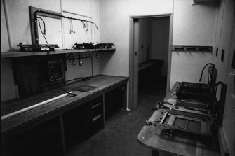 The radio room at the RAAF operations headquarters. April 20, 1971.
