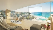 An artist's impression of the development application-approved, Wallace E Cunningham-designed residence in Tamarama.