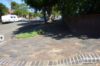 Brick paving in Hillcrest Street in Tempe is heritage listed as an example of an important local scheme to employ people during the Great Depression.