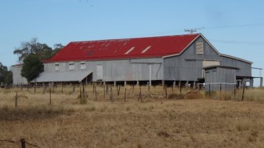 The shearing sheds of the old Mackellar property at Kurrumbede.