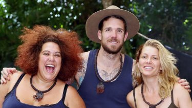 Casey Donovan with fellow I'm a Celebrity ... Get Me Out of Here finalists Dane Swan and Natalie Bassingthwaighte.