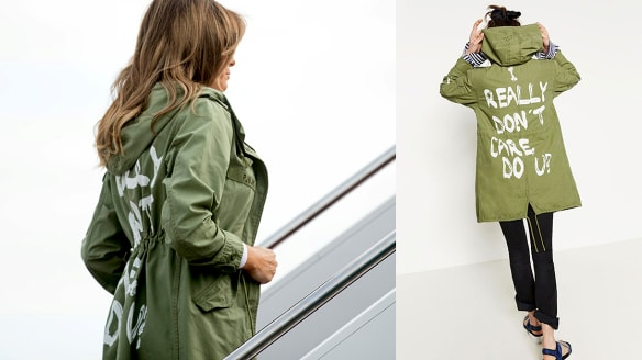 Why Melania Trump's Zara anorak is not 'just a jacket'