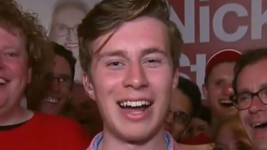 Labor's Declan Martin - 19 years old and still on L-plates. But almost won the blue-ribbon Liberal seat of Brighton