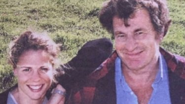 Dairy farmer Sallie Jones and her late father Michael Bowen, who died from suicide in 2016.