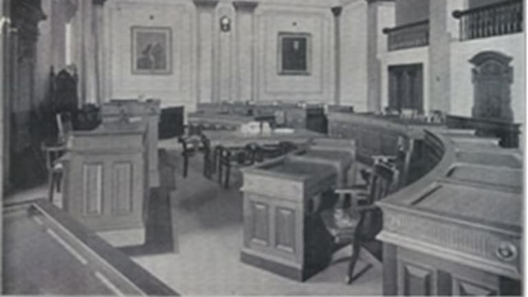 The silkwood chairs were used in the council chamber from about 1926 to 2002.