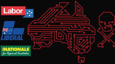 The Liberal, Labor and National parties were hit by a sophisticated cyber attack.