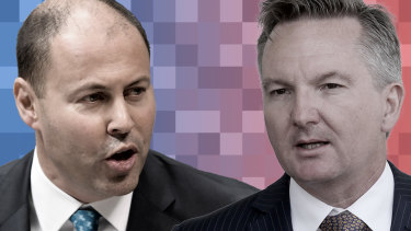 Treasurer Josh Frydenberg and his Labor counterpart Chris Bowen are both facing  the problem of a softening Australian economy.