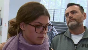 Belle Gibson with Clive Rothwell, the man she and her son live with in Northcote.