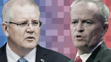 Prime Minister Scott Morrison and Opposition Leader Bill Shorten.