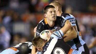Tigers forward Matt Eisenhuth is hoping to end the career of his cousin, Paul Gallen.