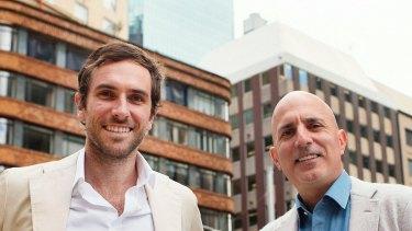 GetSwift executive directors Joel MacDonald and Bane Hunter.