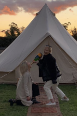 "Annabel Walker ""glamping"" with friends in the Southern Highlands earlier this year."