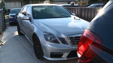 A Mercedes E63 registered in the name of Alaedine Rifai.