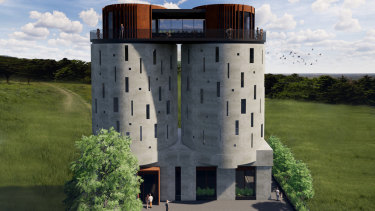 An artist's impression of the new Neutrog Visitors Centre in South Australia.