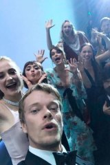 Closer, closer ... too close! Alfie Allen and the cast of Game of Thrones doing what you won't see at this year's Emmys.