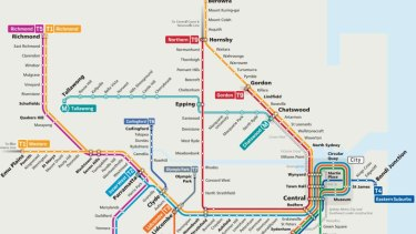 Sydney Railway Map Sydney Trains unveil revamped rail map with T9 Northern Line from