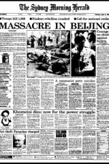 'Massacre in Beijing': front cover of The Sydney Morning Herald, 05 June, 1989