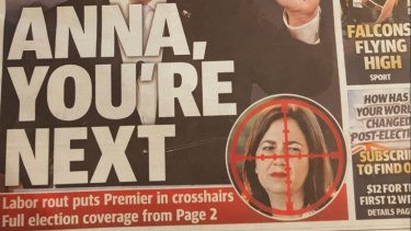 The Sunshine Coast Daily's Monday front page featuring Premier Annastacia Palaszczuk in crosshairs.