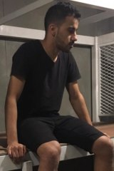 Hakeem AlAraibi in immigration detention at Bangkok's Suvarnabhumi airport.