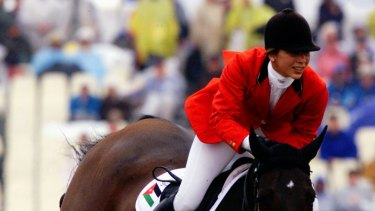 Princess Haya, then of Jordan, show jumping in Sydney in 2000.