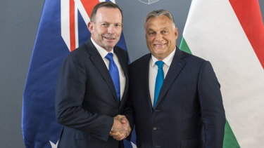 Tony Abbott with Hungarian PM Viktor Orban in September.