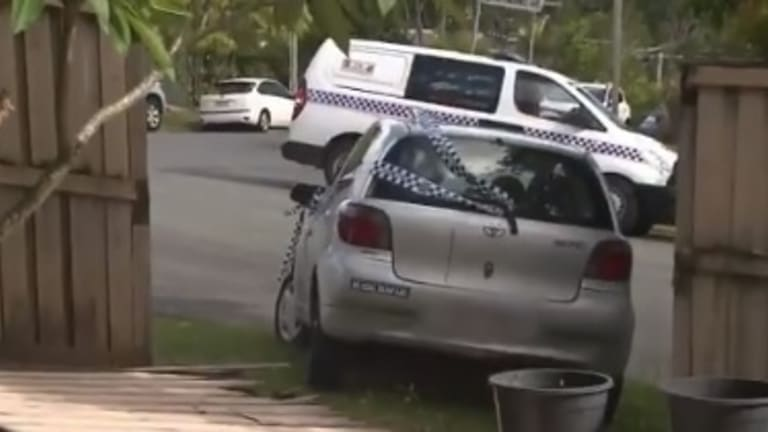 The nurse's car crashed into a residential fence in Ashmore, with the owner still inside.