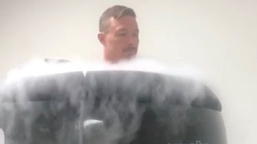 Road to recovery: cryotherapy is among the services offered by Damien Cook's company.