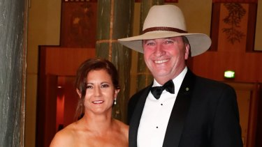 Natalie and Barnaby Joyce photographed at the Midwinter Ball in June 2017.