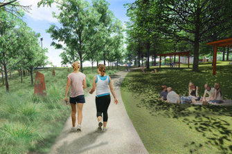 An artist's impression of Westleigh Park.