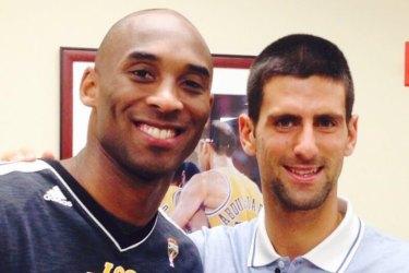 Kobe Bryant and Novak Djokovic pose for a photo in 2016.