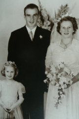 June marries Jack Alston in March 1948, with her sister Dorothy as flower girl.