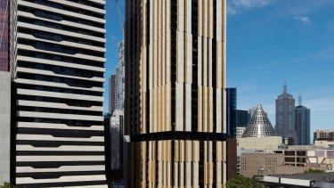 The completed 62-storey Empire Melbourne tower.