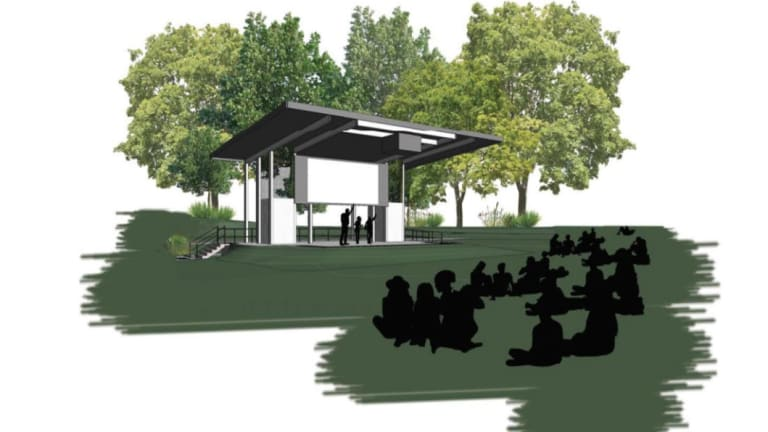 Design image of the Brisbane City Council proposed permanent outdoor cinema.