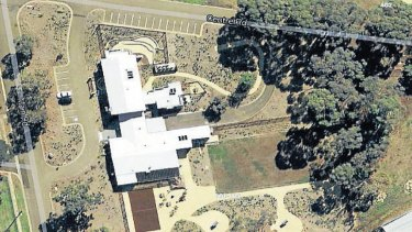 An aerial view of the Melbourne Immigration Transit Accommodation centre in Broadmeadows.