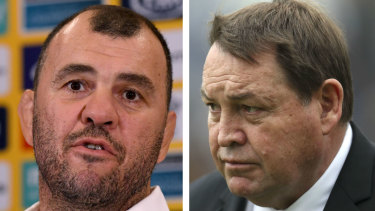 Mind games: Steve Hansen likes to get under the skin of Michael Cheika.