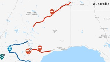 Floods and fires have closed major supply roads to WA over the past week and a cyclone threatens routes to the north.