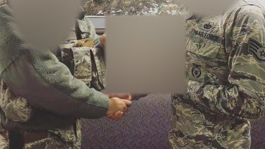 The Nigerian man allegedly used these photos of a United States soldier and posed as him to lure a Brisbane woman into handing over hundreds of thousands of dollars.