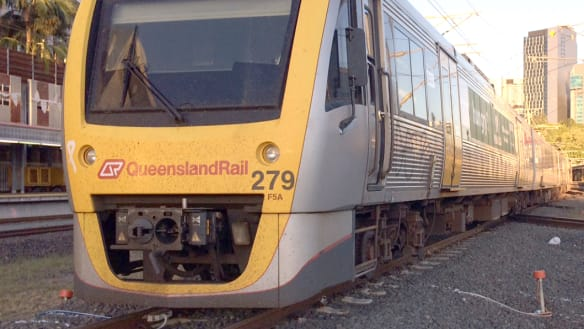 Morning train commuter delays clear after vehicle hits boom gate