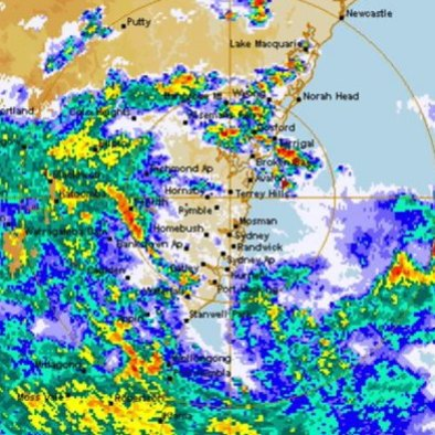 Rain radar sydney