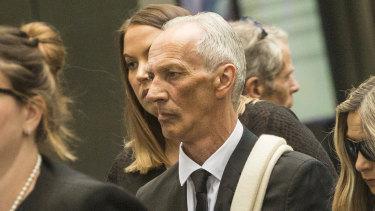 Graham White outside court in 2019.